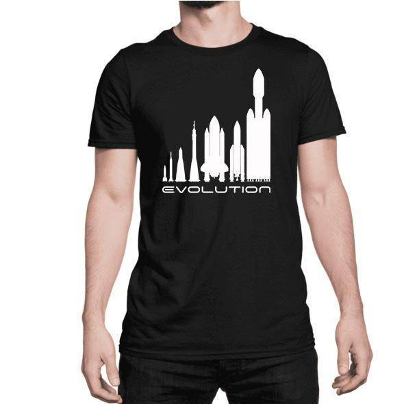 Evolution T-Shirt - SpaceX  merchandise