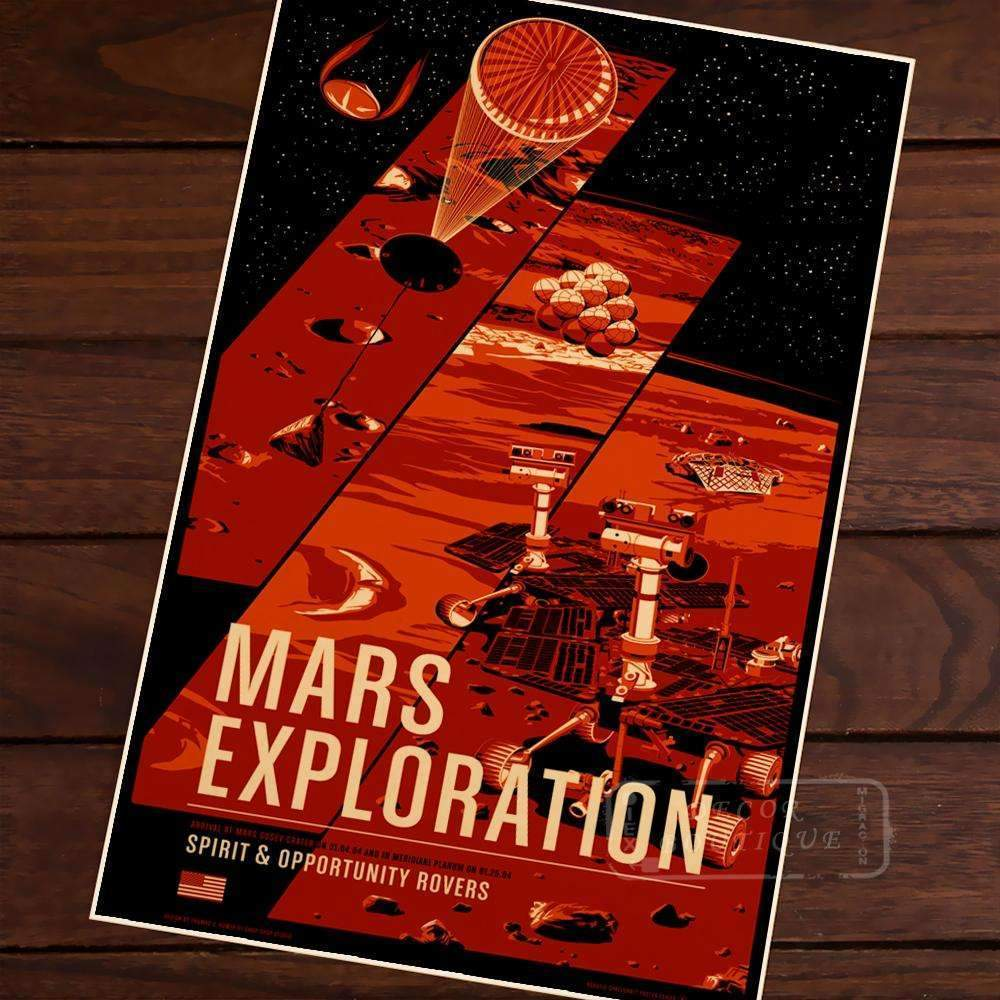 Mars Exploration  Poster - SpaceX  merchandise