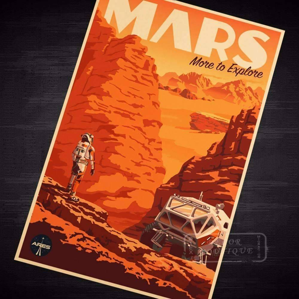 Mars Move to explore Poster - Space Shop