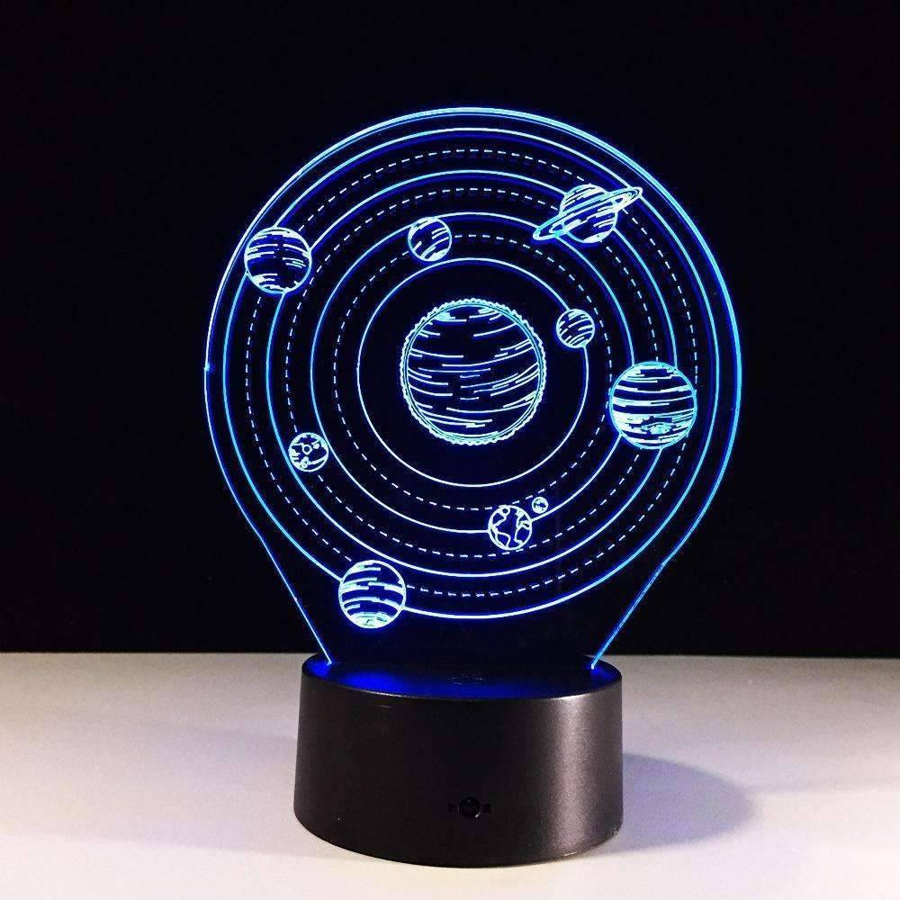Planet Solar System Night Lights 7 Color 3D LED Light Lamp - Space Shop