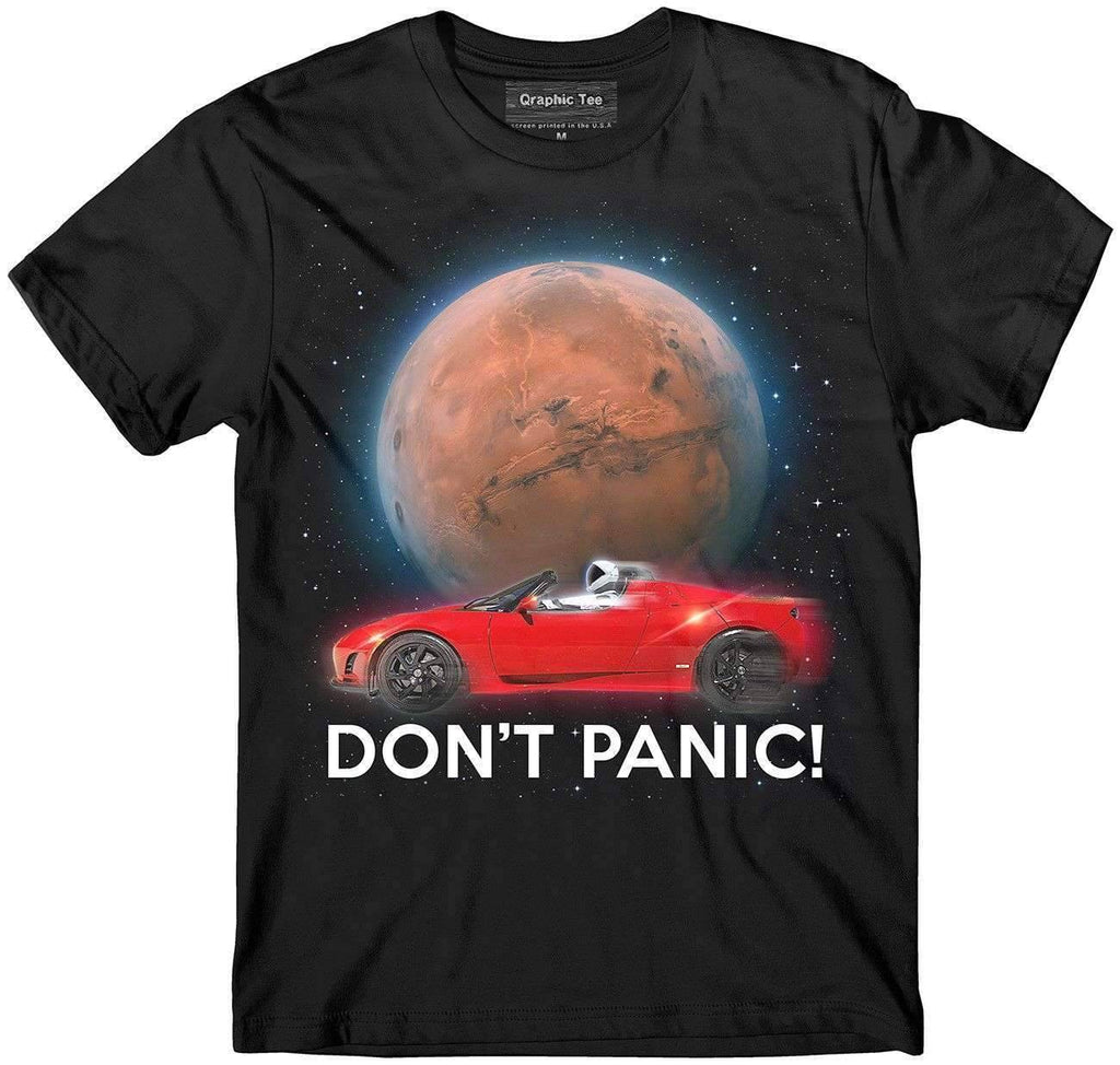 Don't Panic ! t-shirt - SpaceX  merchandise
