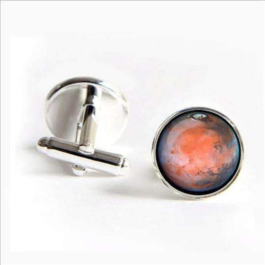 Mars Cufflinks - Space Shop