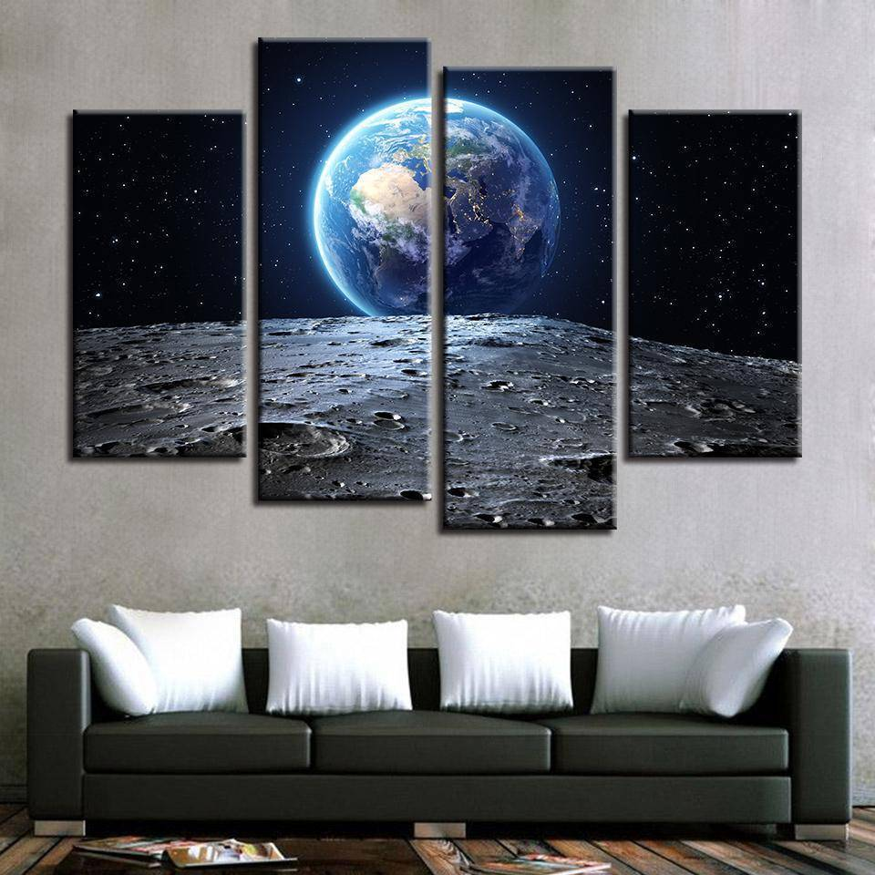 Moonlanding Canvas - SpaceX  merchandise