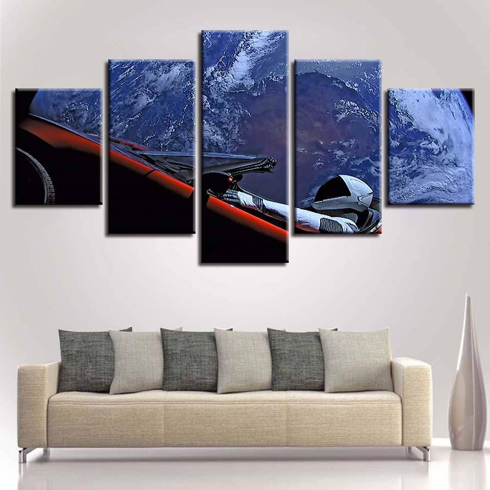Starman Canvas - SpaceX  merchandise