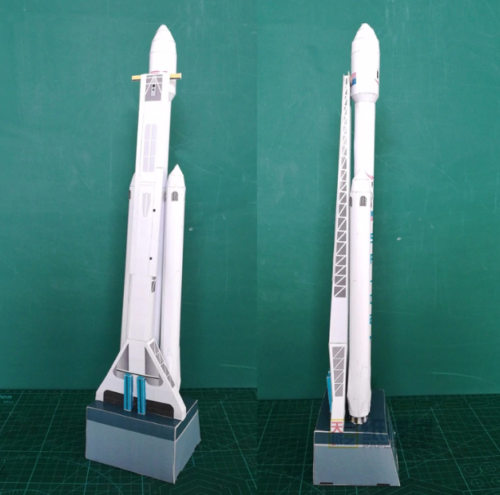 Falcon Heavy Spacex 3D Paper Model Puzzle - SpaceX  merchandise