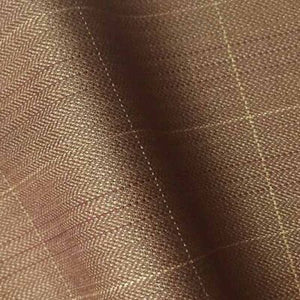 – BROWN HERRINGBONE CHECK 250-280 GRAMS - H7728