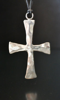 Hammered Greek Cross