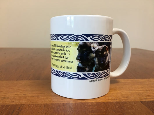 New Skete Logo with Pups Mug