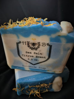 Sea Salt Citrus Scented Soap