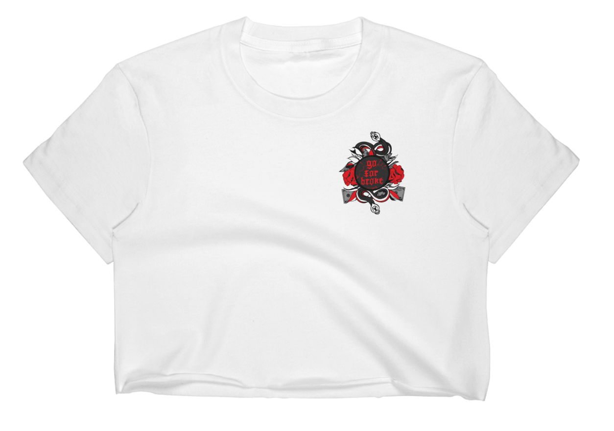 Women's Go For Broke R&B Collection Pocket Logo Crop Top