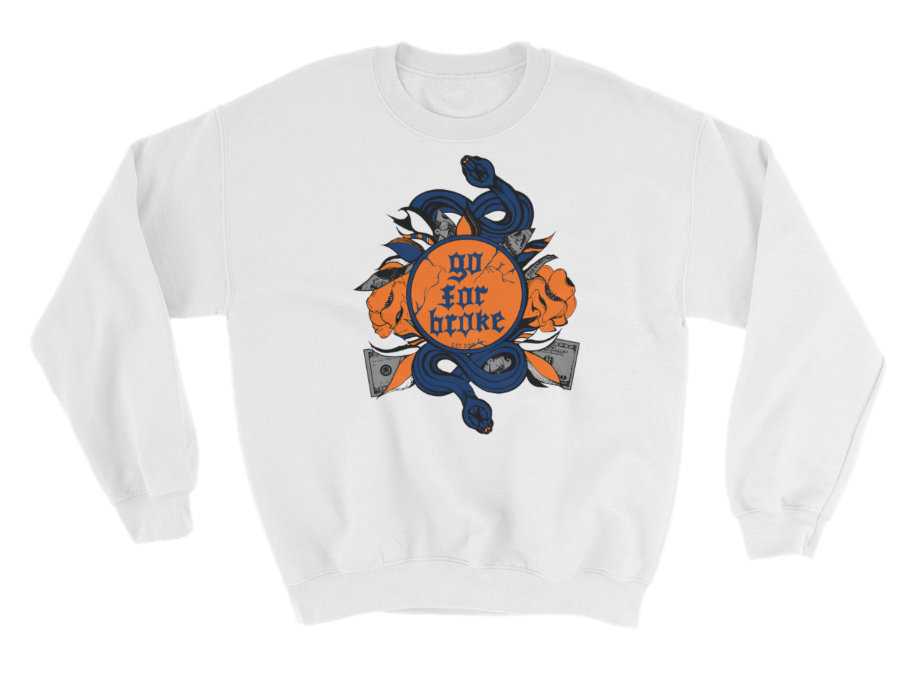 Men's Go For Broke CUSE Original Logo Collection Crew Neck
