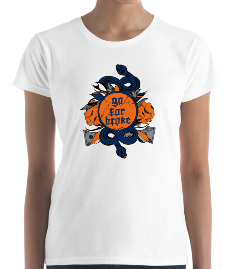 Women's Go For Broke CUSE Original Logo Collection T