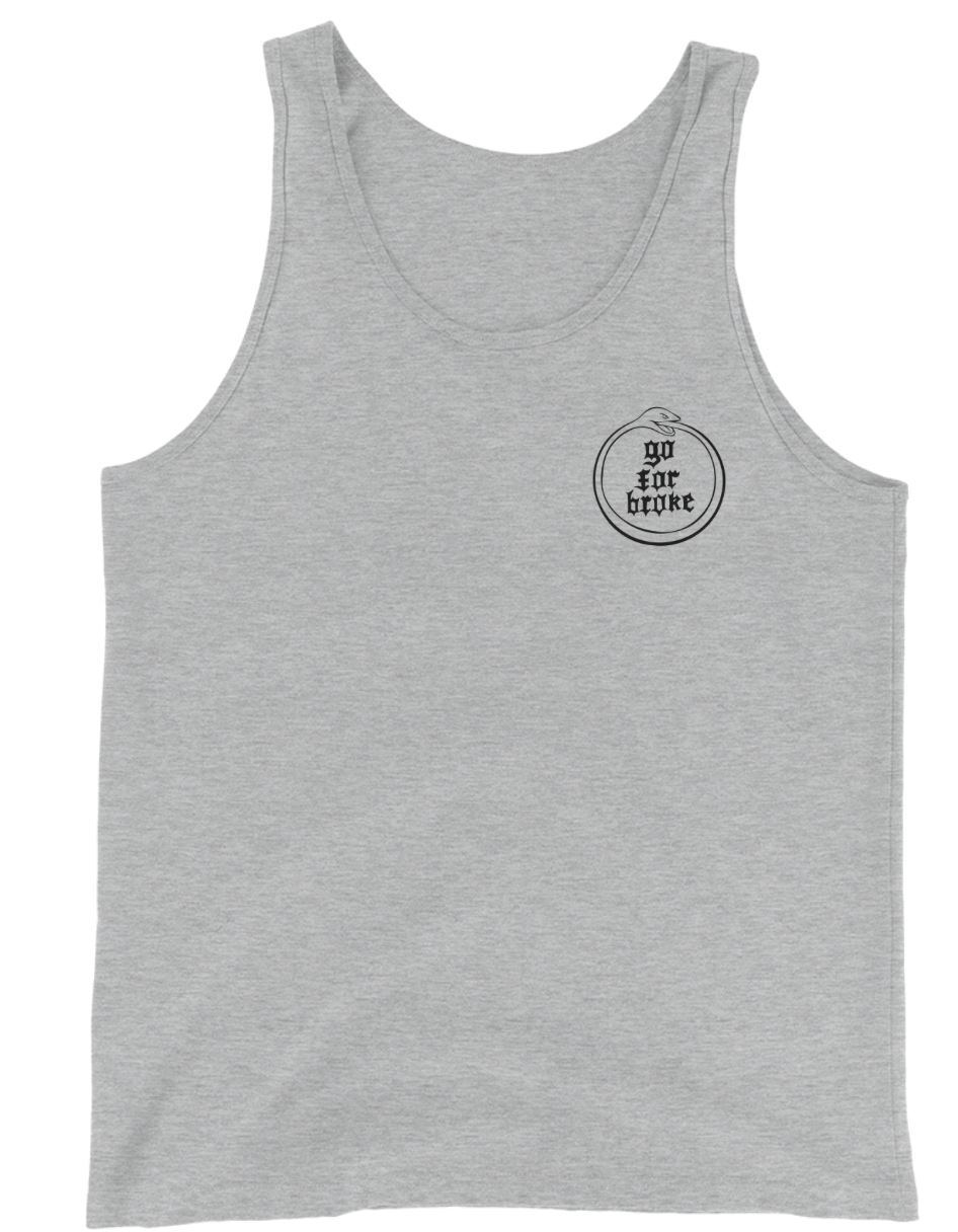 Men's Go For Broke OUROBOROS Black Logo Collection Tank Top