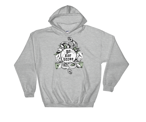 Men's Go For Broke Original Green Collection Hoodie