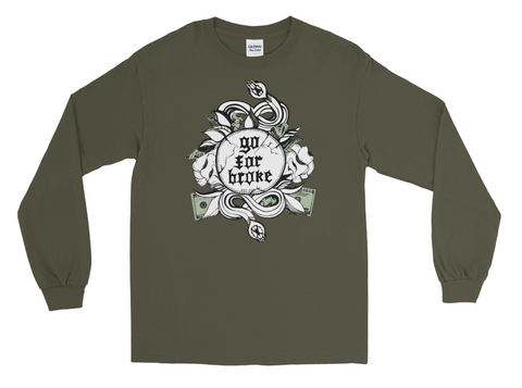 Men's Go For Broke Original Green Collection Crew Neck
