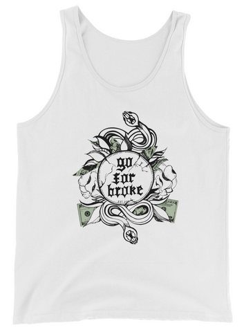 Men's Go For Broke Original Green Collection Tank Top