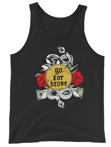 Men's Go For Broke Rose Gold Collection Tank Top