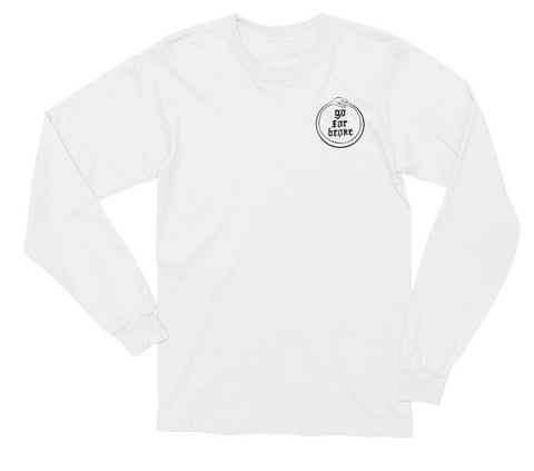 Women's Go For Broke OUROBOROS Black Collection Long Sleeve Pocket Logo