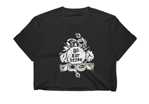 Women's Go For Broke Original Green Collection Crop Top
