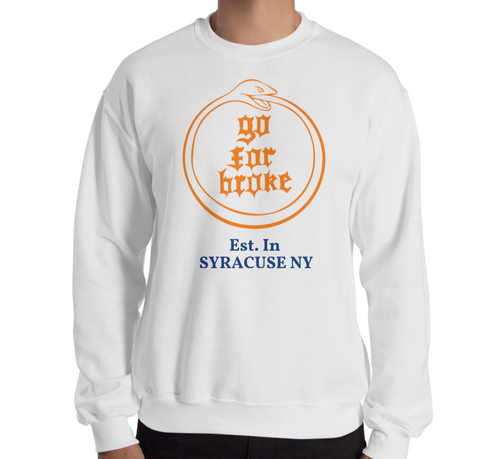 Men & Women's Go For Broke CUSE Original Logo Collection Est. Crew