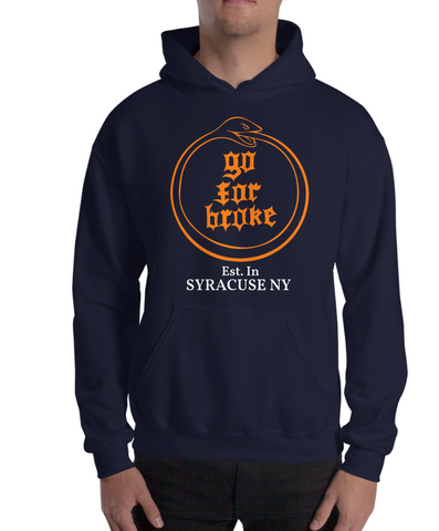 Men's & Women's Go For Broke CUSE Original Logo Collection Est. in Syracuse NY Limited Hoodie