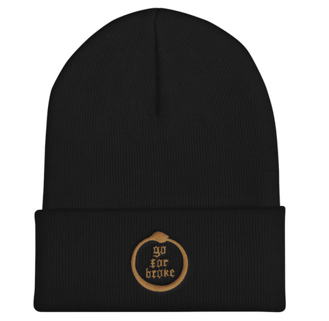 Go For Broke Black Winter Beanie