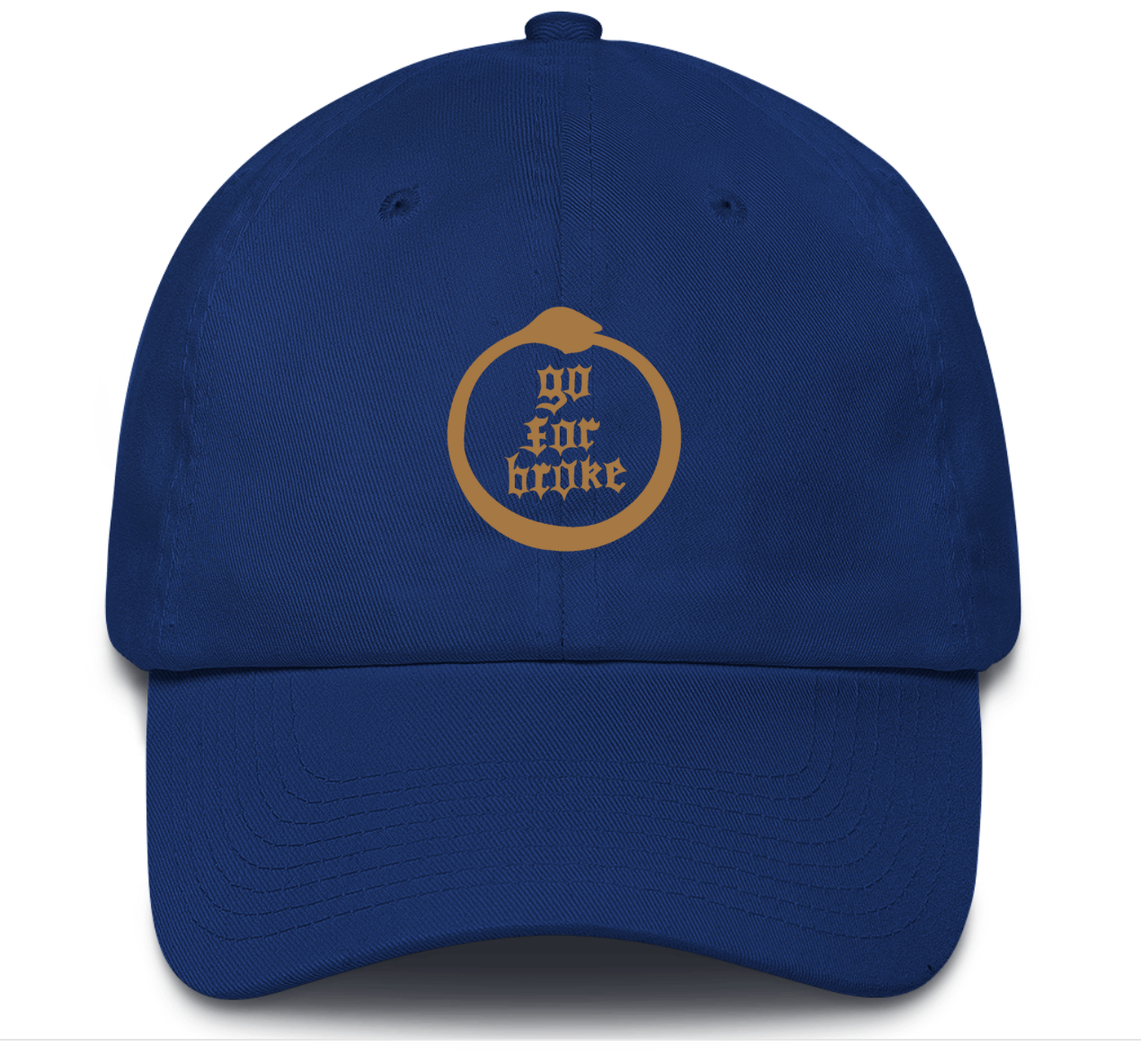 Men's & Women's Go For Broke Full Logo Blue Dad Hat