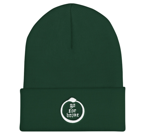 Go For Broke Green Winter Beanie