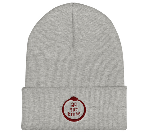Go For Broke Grey Winter Beanie