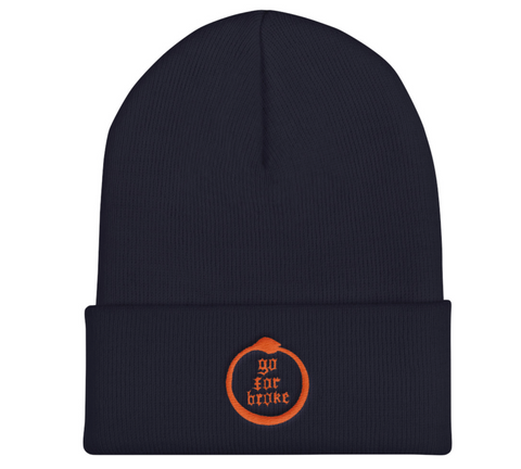Go For Broke Navy Winter Beanie