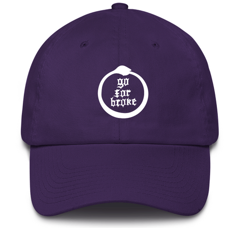 Men's & Women's Go For Broke Full Logo Purple Dad Hat