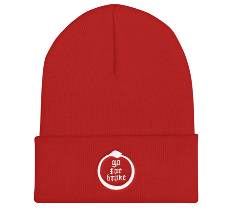 Go For Broke Red Winter Beanie