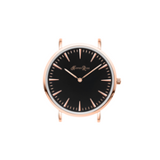Divine Black Leather Watch with Rose Gold Detailing | Womens Watches by Harper Rose
