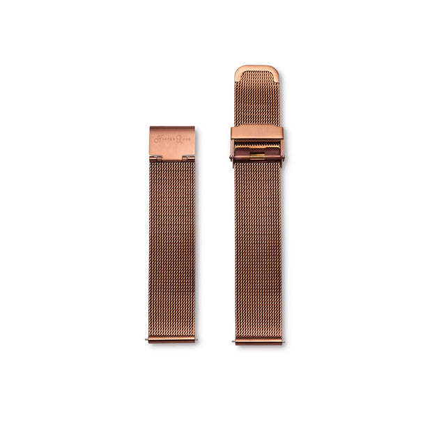 Coffee Mesh Watch with Coffee Mesh Strap - Harper Rose