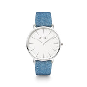 Blue Denim (Silver/White) - Harper Rose