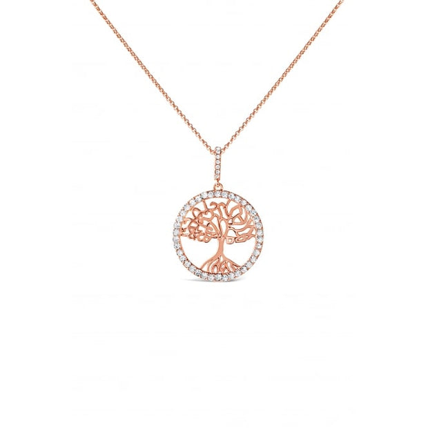 Rose Gold Tree of Life Necklace - Harper Rose