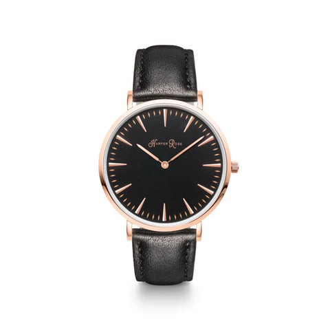 Black Leather (Rose Gold/black) - Watches