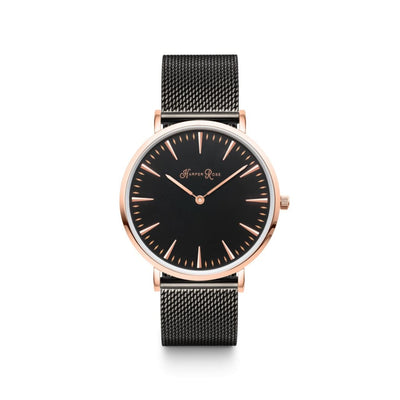 Black Mesh (Rose Gold/black) - Watches