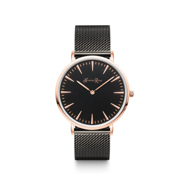 Black Mesh (Rose Gold/Black) - Harper Rose