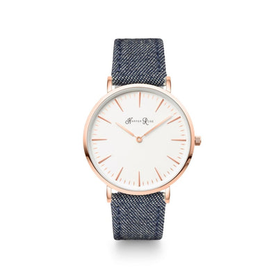 Dark Denim (Rose Gold/white) - Watches