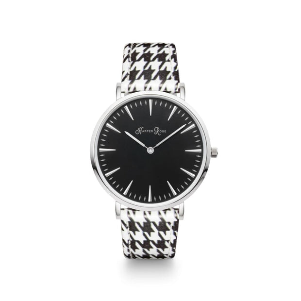 Dog Tooth (Silver/black) - Watches