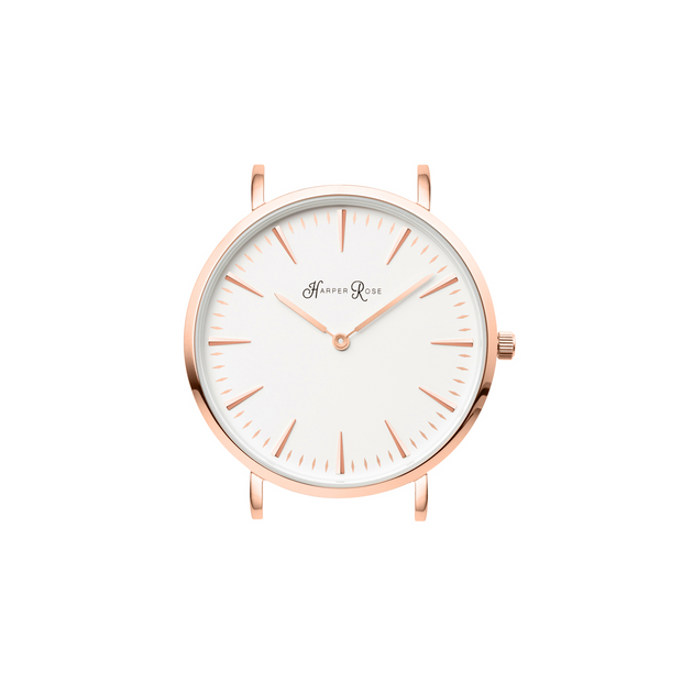 White Leather (Rose Gold/White)