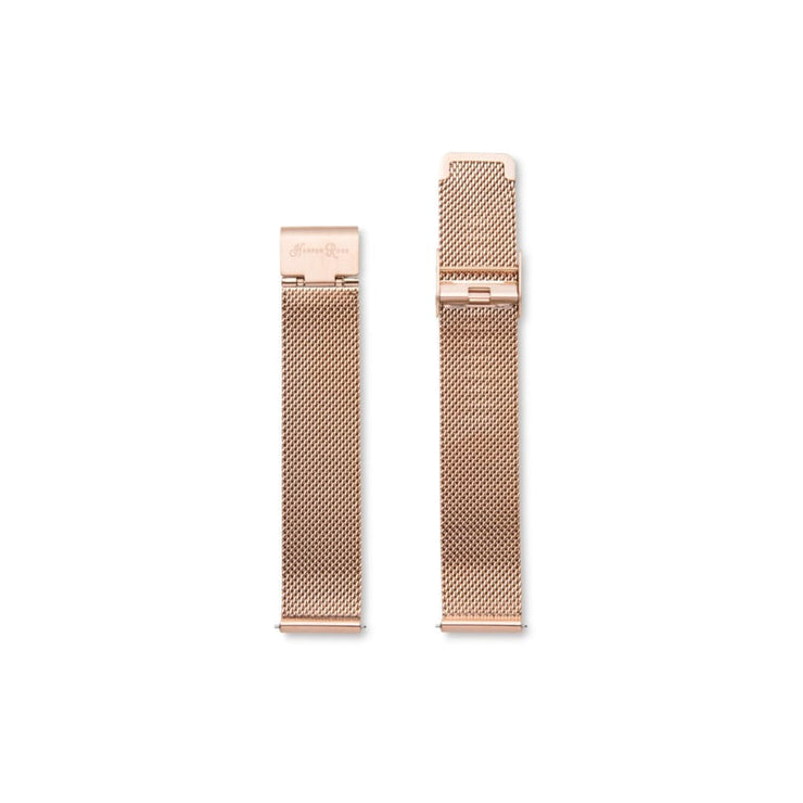 Hr Rose Gold Mesh Strap - Accessory
