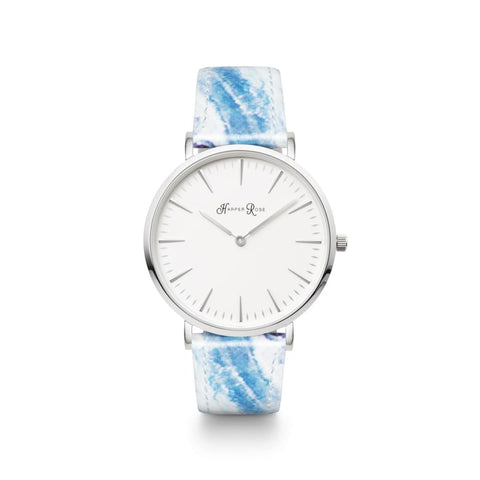Ocean Marble (Silver/white) - Watches
