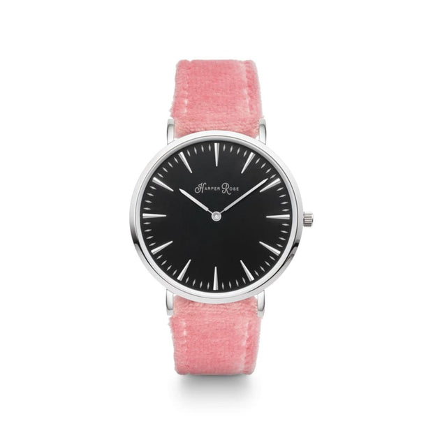 Pink Fabric (Silver/black) - Watches