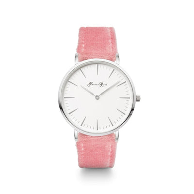 Pink Fabric (Silver/white) - Watches