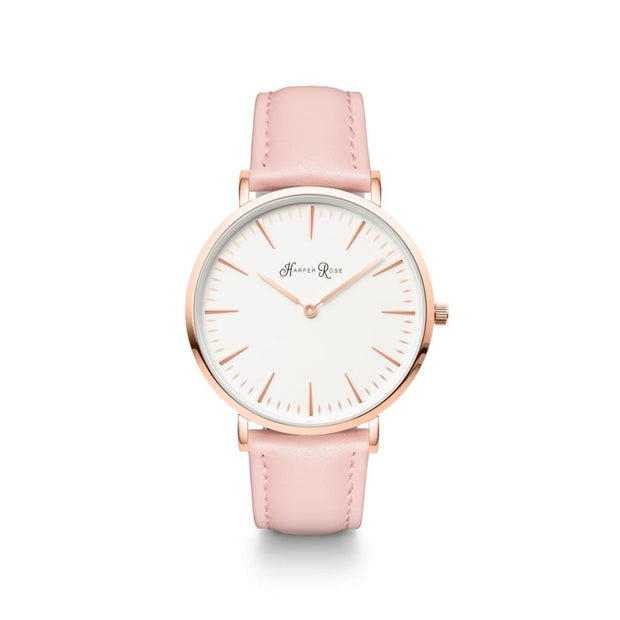 Pink Leather (Rose Gold/white) - Watches