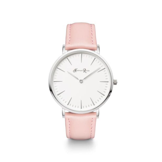Pink Leather (Silver/white) - Watches