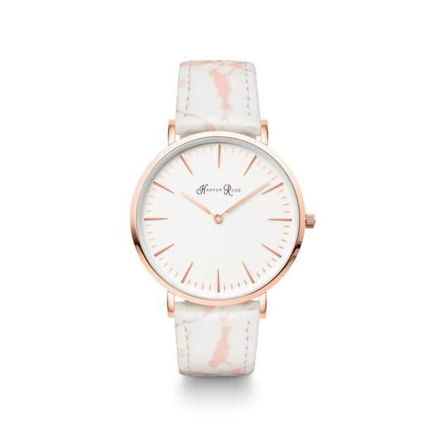 Pink Marble (Rose Gold/white) - Watches