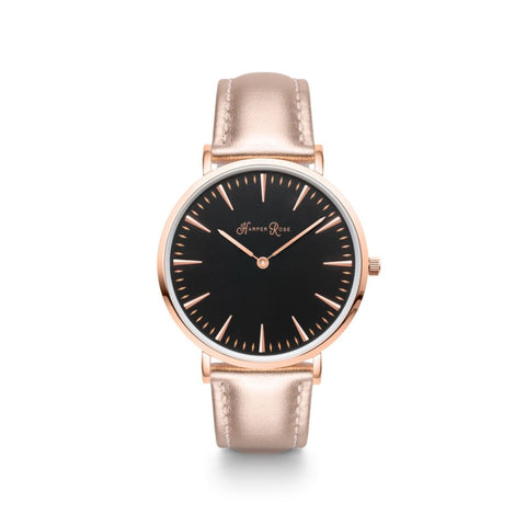 Rose Gold Leather (Rose Gold/black) - Watches